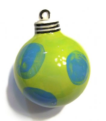 14). Hand Painted ceramic ball ornament Item# CC121213