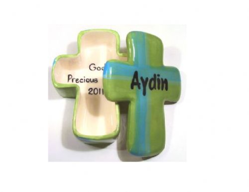 (4). Ceramic Cross Box (Item: #CC8611GB)