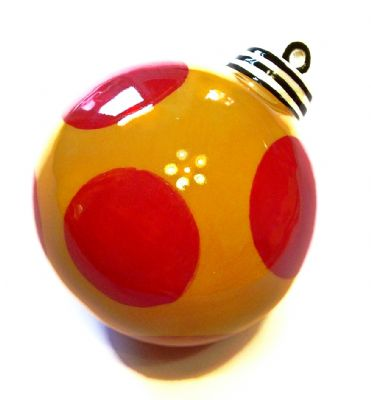 11). Hand Painted ceramic ball ornament Item:CC12125