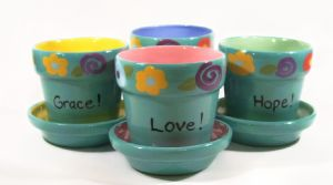 "4""Ceramic Flower Pots (Item #CC4422)"