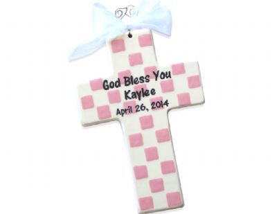 Personalized Christening or Baptism Cross